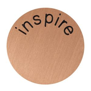 Picture of 'Inspire' Large Rose Gold Coin